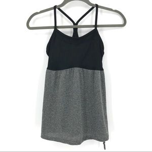 Champion black & gray workout tank w/ built-in bra